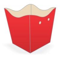 Cachepot Pequeno Vermelho