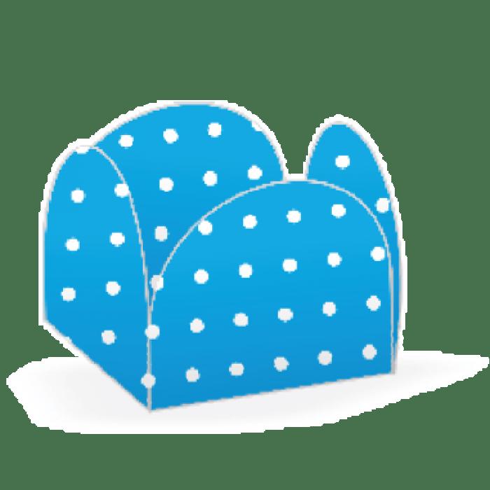 Forminha 4 Pétalas Azul Poá