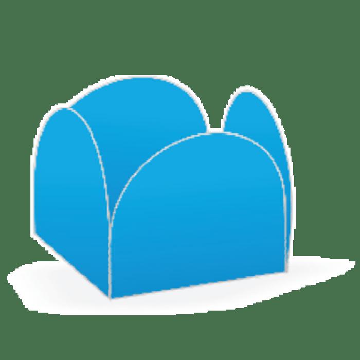 Forminha 4 Pétalas Azul