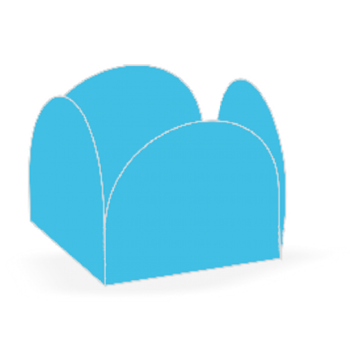 Forminha 4 Pétalas Azul Céu
