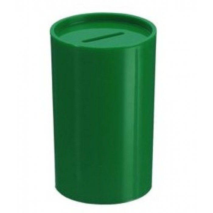 Cofrinho Plástico Verde Escuro