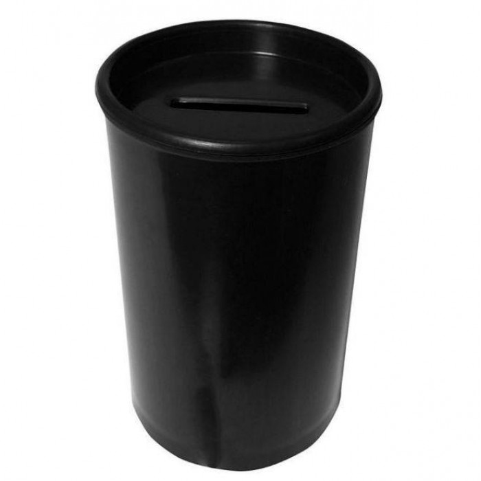 Cofrinho Plástico Preto