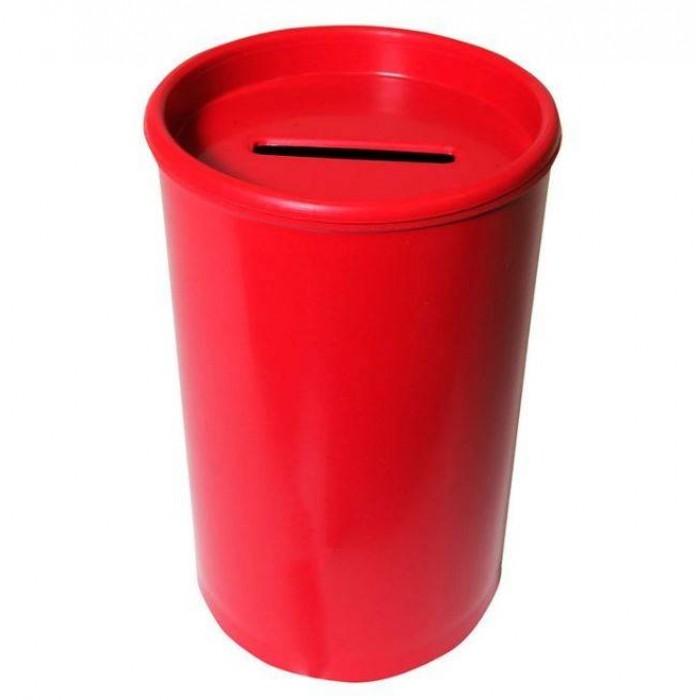Cofrinho Plástico Vermelho