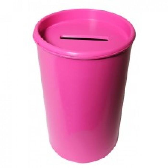 Cofrinho Plástico Rosa