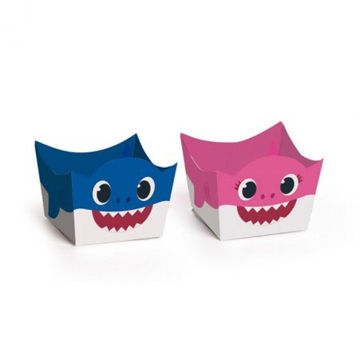 Forminha para Doces Mommy e Daddy Shark