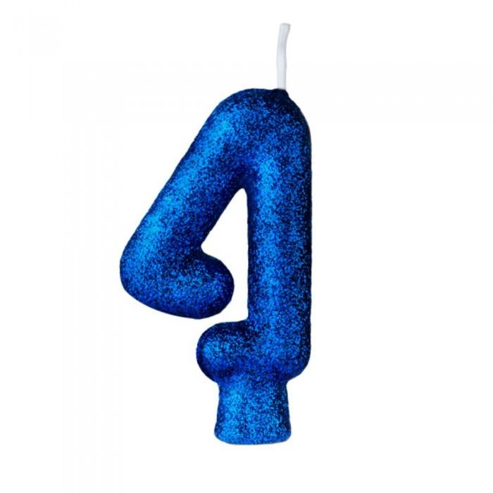 Vela Cintilante N° 4 Azul