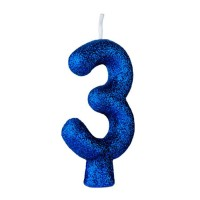 Vela Cintilante N° 3 Azul