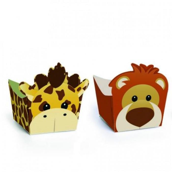Forminha para Doces Safári Leão e Girafa
