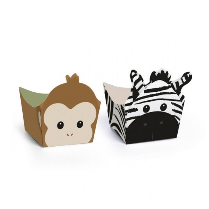 Forminha para Doces Safari Macaco e Zebra